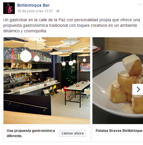 Formato Carrusel de Facebook Ads